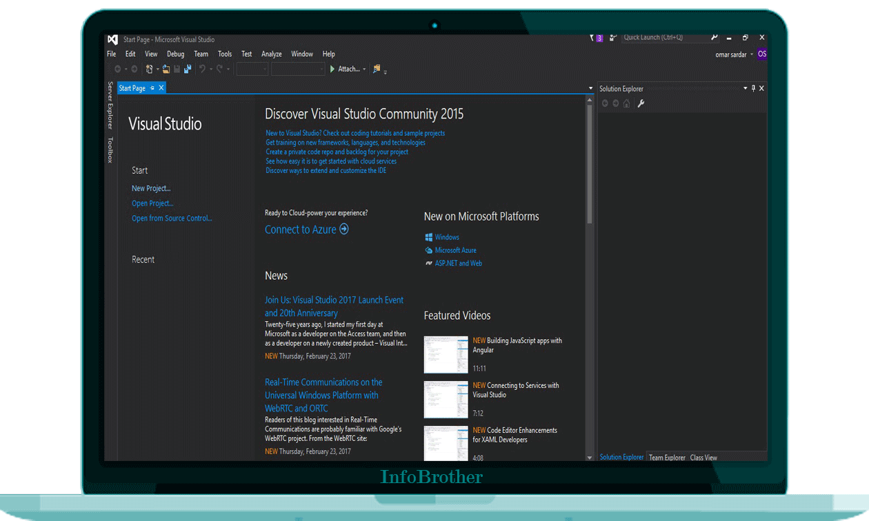 Installation of Visual Studio : infobrother